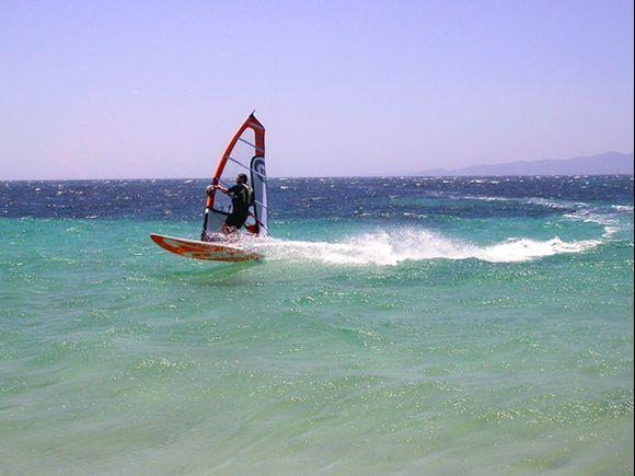 Surfing in Glyfada, Naxos