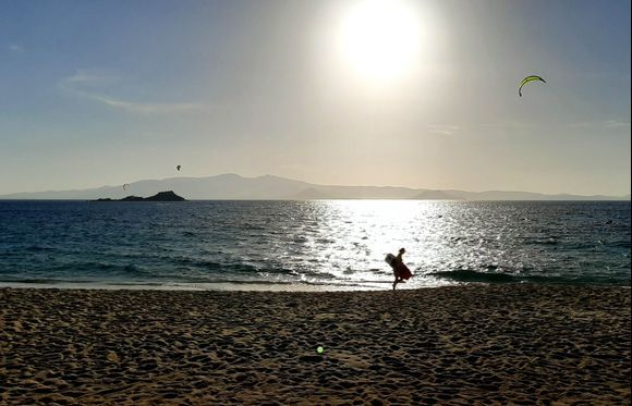 Kitesurfing at Mikri Vigla Beach