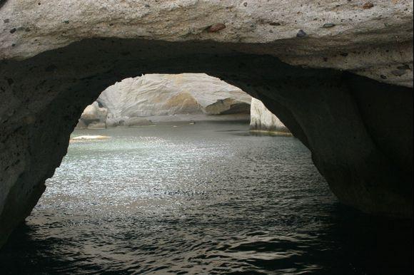The Sikia sea cave of Milos