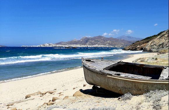 Stelida beach on a windy day