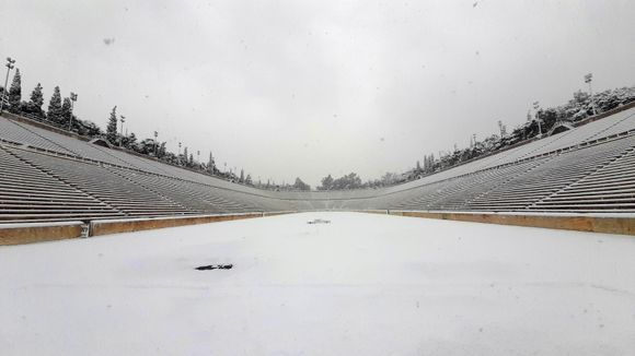 Athens under the snow!