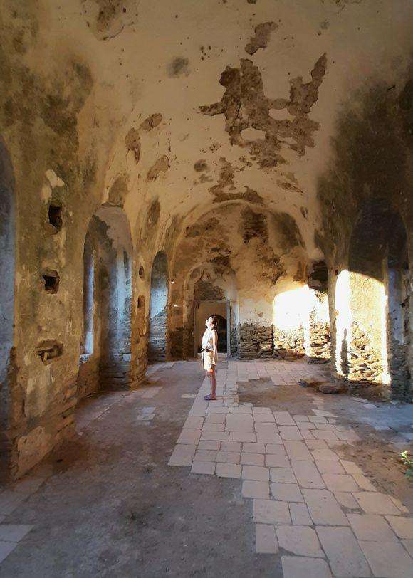 Main room of Kalamitsia monastery