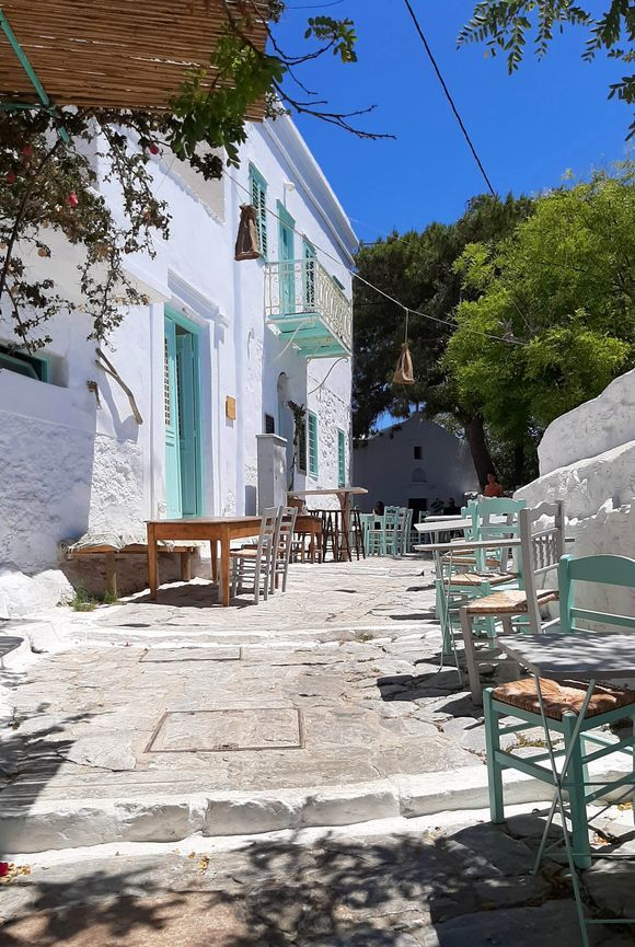 Evening walk in Chora. How not fall in love with the Cyclades?