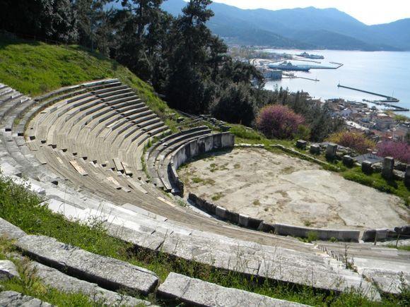 Limenas ancient theatre.