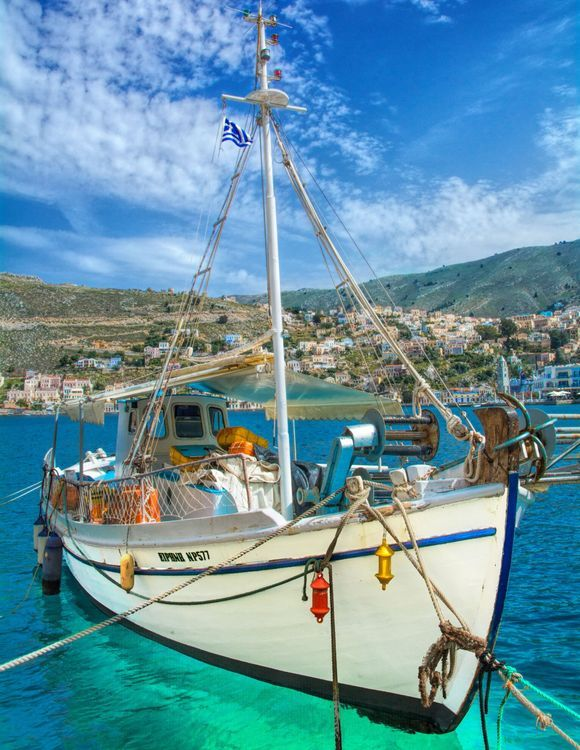 Welcome to Symi island with jewel-bright, clear waters!