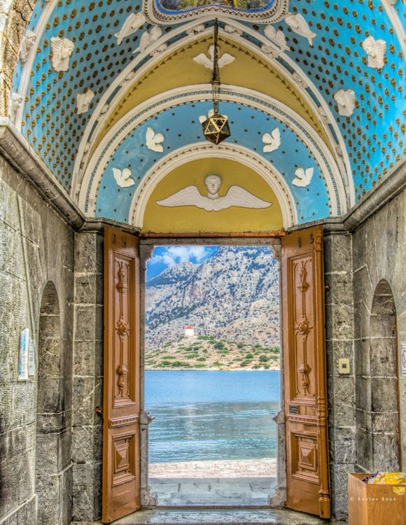 It seems like a door to heaven! Holy Panormitis Monastery of the Archangel Michael in Symi.