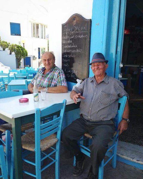 Met this two lovely men in Menetes Karpathos