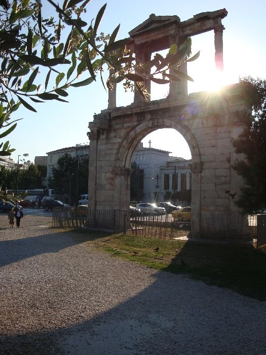 hadrian arch in the sun