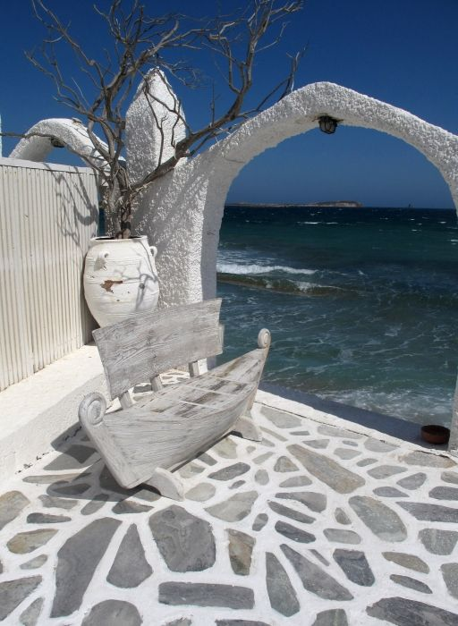 View from the shore, Pounda, Paros
