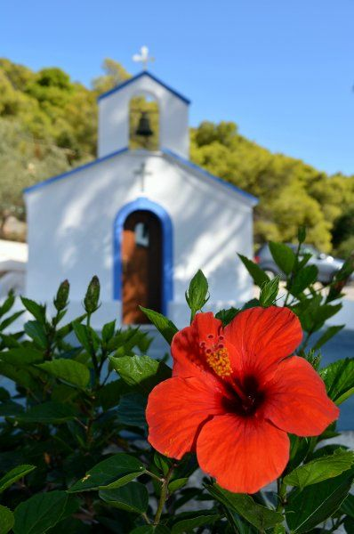 Tiny picturesque church by the sea