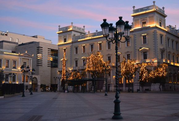 Christmas lights are so becoming to this city! Kotzia square/Πλατεία Κοτζιά