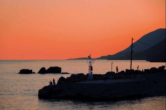Sunset peace at Sfakia