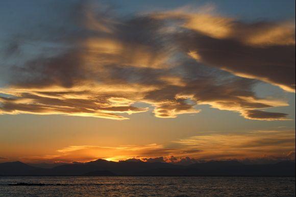 sunset in aegina - february 2019
