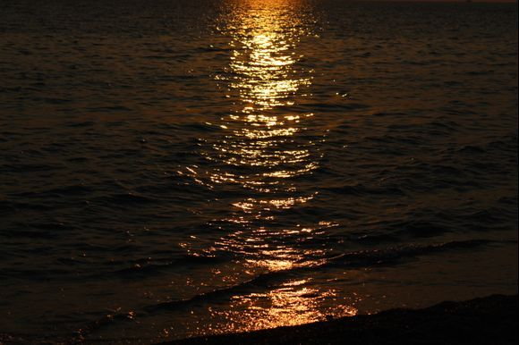sunset in glyfada