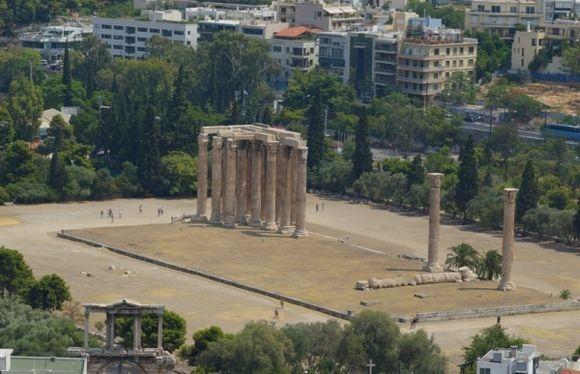 Temple of olympian zeuz from acropolis