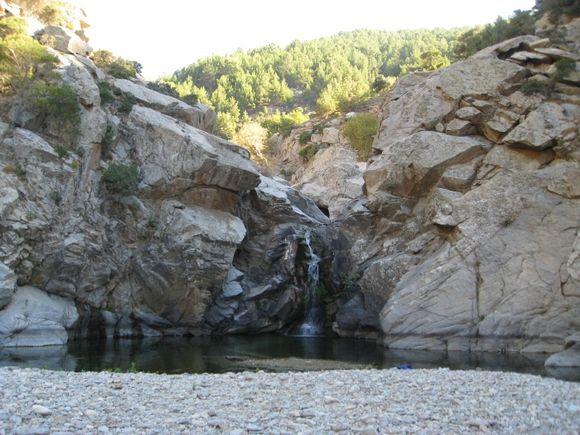 Waterfall in Halary Gorge, Ikaria