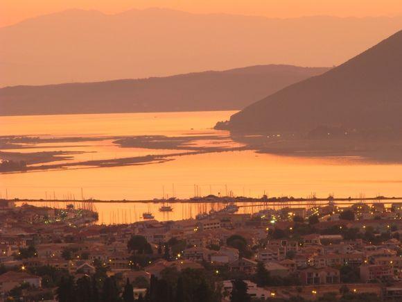 Sunrise Lefkada town