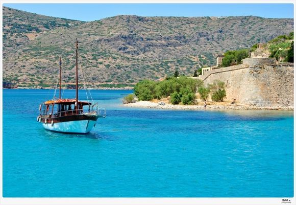 Spinalonga Island, close to Elounda, Crete