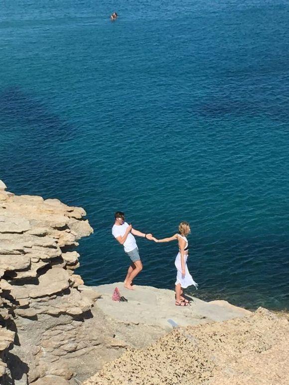 View from Spilia Seaside Restaurant Agia Anna beach