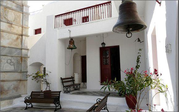 courtyard of the monastery of Ano Mera