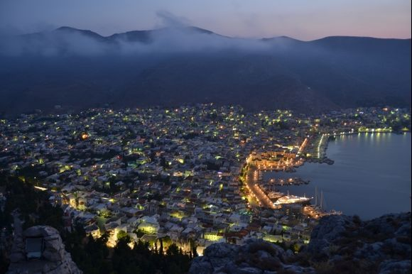 kalymno's port early in the morning