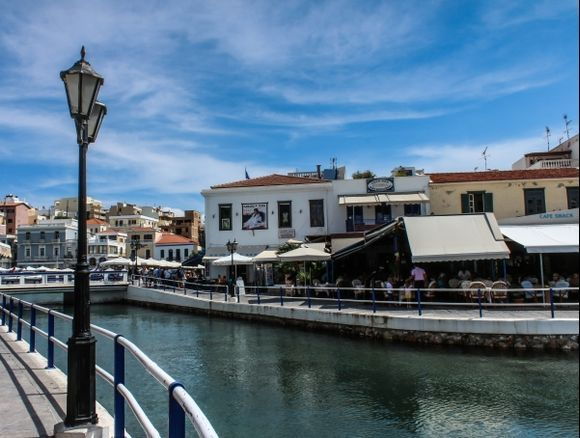 Another view of Agios Nikolaos - again the old harbour