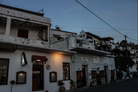 Myrthios by night - the main street