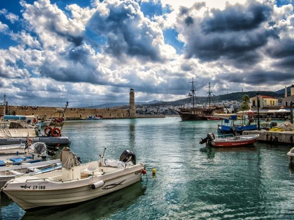 Rethymno - venetian harbour. A shot taken out of the archives