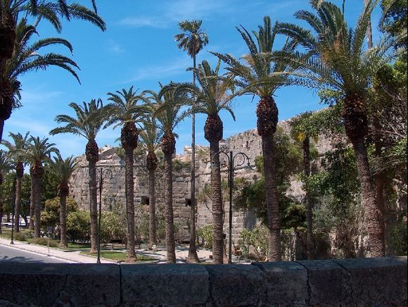 Along the castle in Kos town