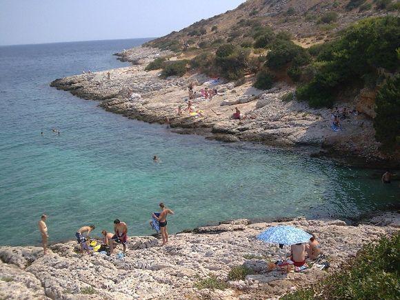Small (but popular) cove near Varkiza