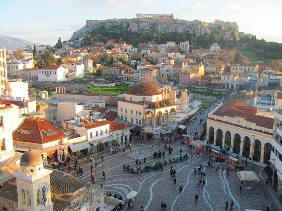 Monastiraki and Acropolis by day...