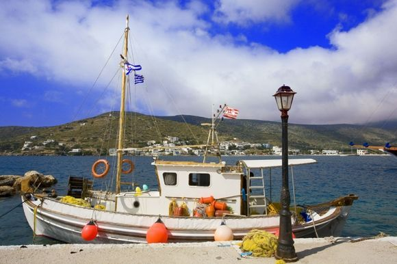 Amorgos, Katapola : fishing boat