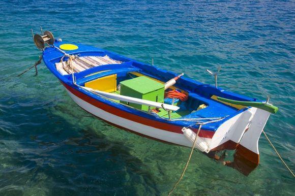 Amorgos,Katapola : small boat