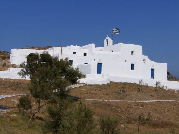 The Monastery of Agios Ioannis above the beach of Monastiri