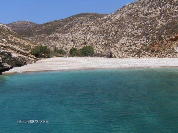 Livadaki beach,the most beautiful beach in Folegandros