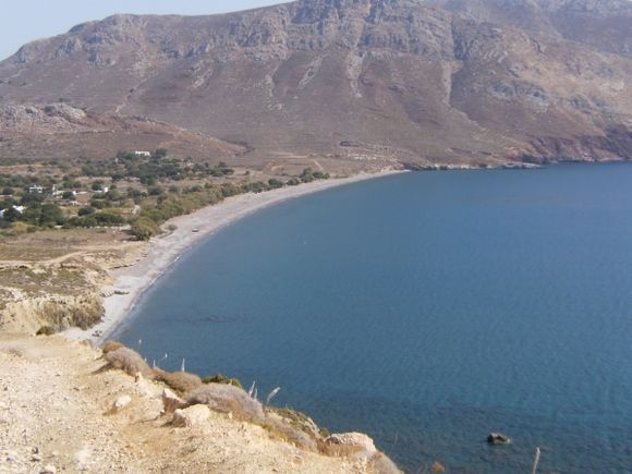 Eristos beach from the path going to Agios Petros