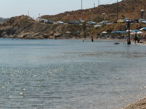 The beach Panagies near Alinda