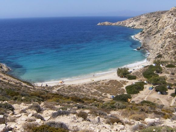 LIVADI beach from the path above