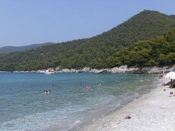 Wonderful green-blue in Panormos beach