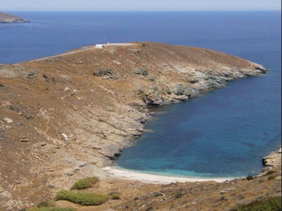 Lidi beach, a secluded bay near Chora