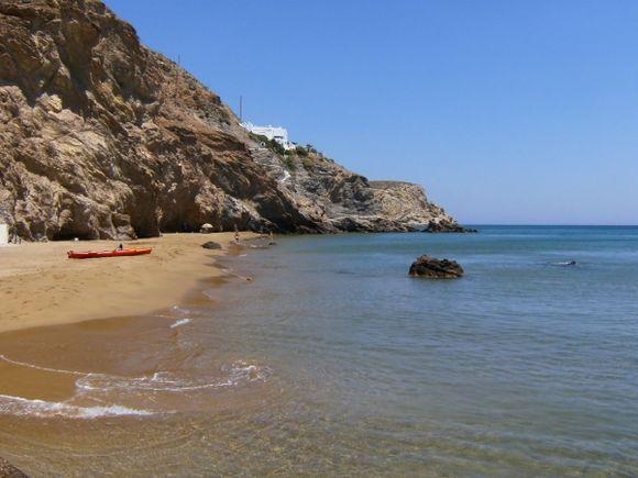 Agios Nikolaos view of the beach at the port