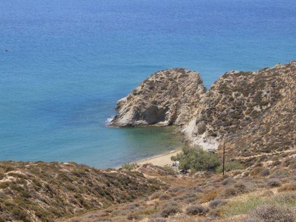 View of Katsouni beach from the path to Kleisidi beach