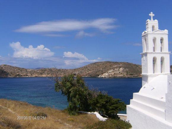Nice church facing the port in Ornos