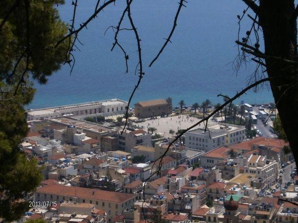 View of Solomos square and Church of Agios Nikolaos tou Molou