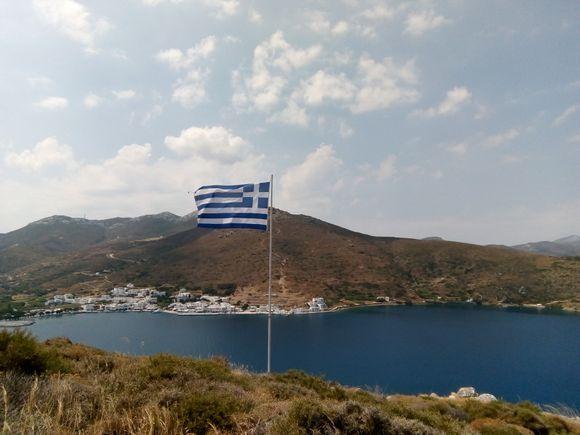 Katapola bay from the hill