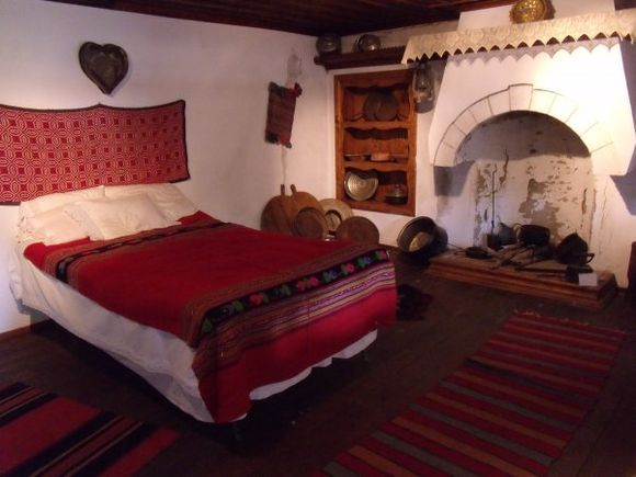 Traditional bedroom, displayed at the Folklore Museum. (August 2012)