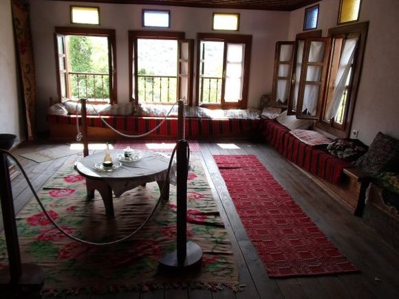 Traditional living room, displayed at the Folklore Museum. (August 2012)
