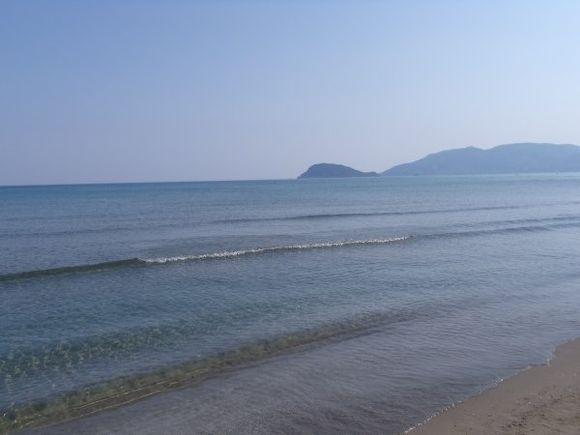 The sea at Kalamaki beach, August 2011