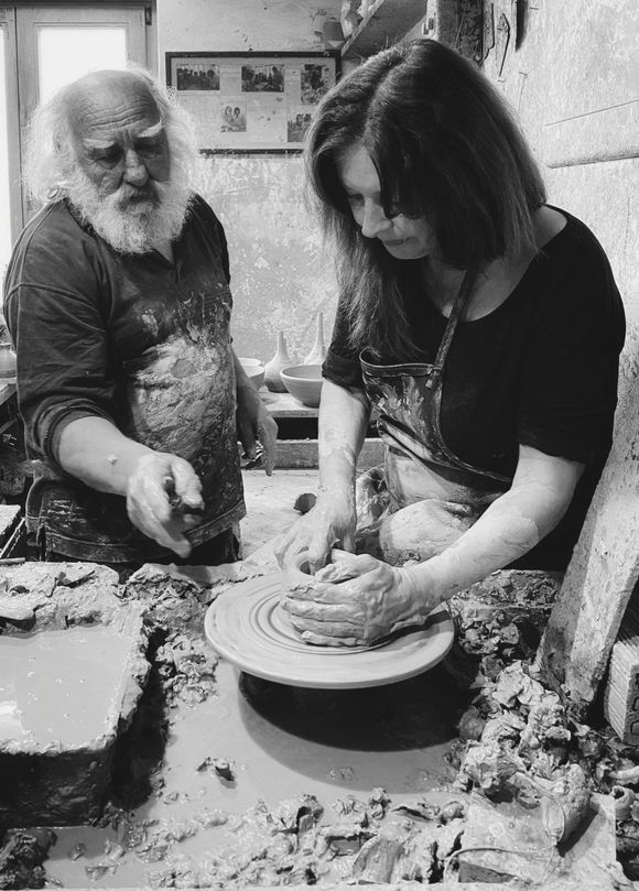 Earth and water art pottery