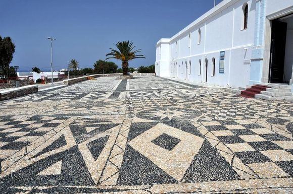Pavement in front of Panagia Megalochari